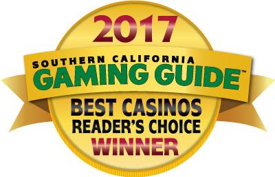 Southern California Gaming Guide™ Reader's Choice Best Casinos 2017 Award Coin