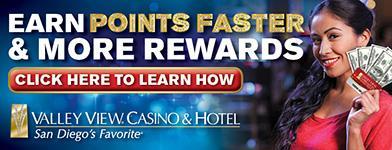 Valley View Casino & Hotel Banner